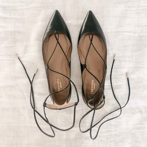 Aquazzura Lace Up Flats